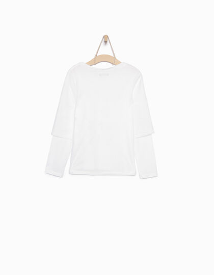 Tee-shirt blanc fille - IKKS Junior