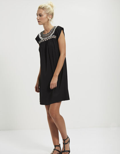 Dress with embroidered panel - IKKS Women