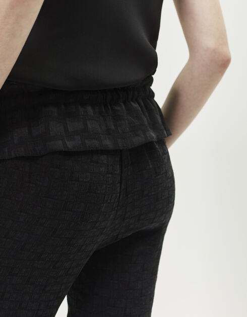 Women's jacquard trousers