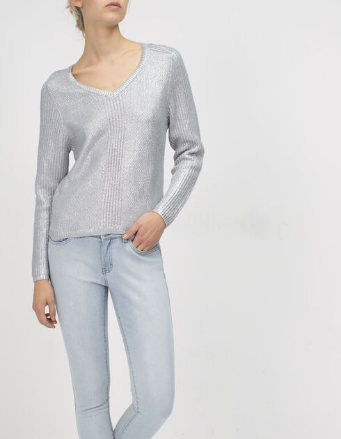 Women's grey jumper