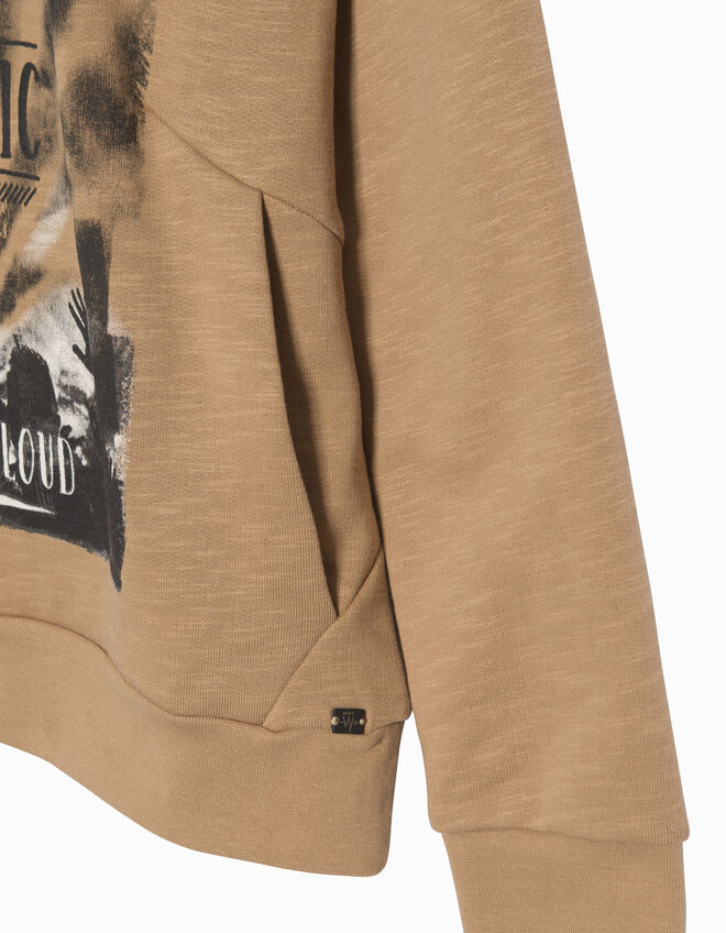 Boys' camel sweatshirt