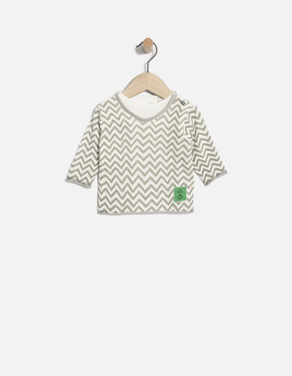 Baby boys' white sweater - IKKS Junior