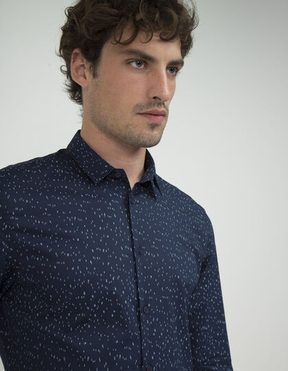 Men's blue shirt - IKKS Men