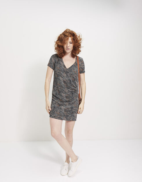 Women's printed crêpe dress