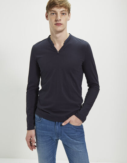 Men's blue polo shirt - IKKS Men