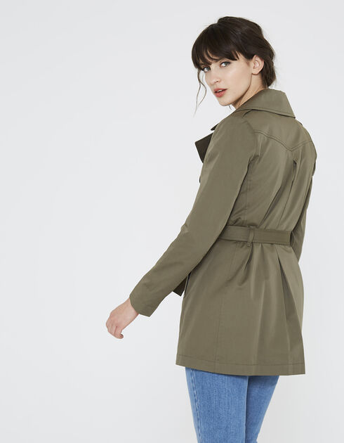 Women's short trench coat