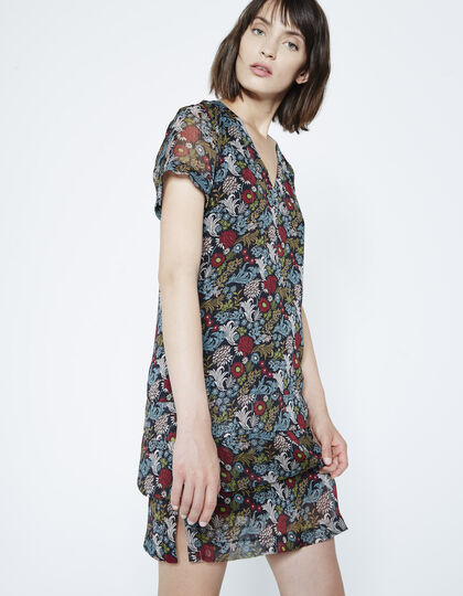 Floral print voile dress  - IKKS Women