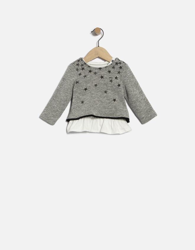 sweat gris b b fille ikks mode archive h16 automne hiver. Black Bedroom Furniture Sets. Home Design Ideas