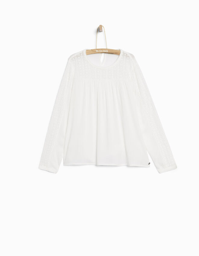 Girls' ecru blouse