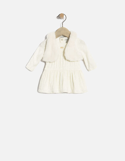 Robe 2 en 1 bébé fille - Junior