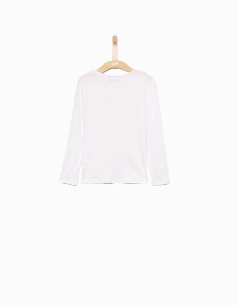 Girls' white T-shirt