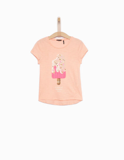 Camiseta niña rosa - IKKS Junior
