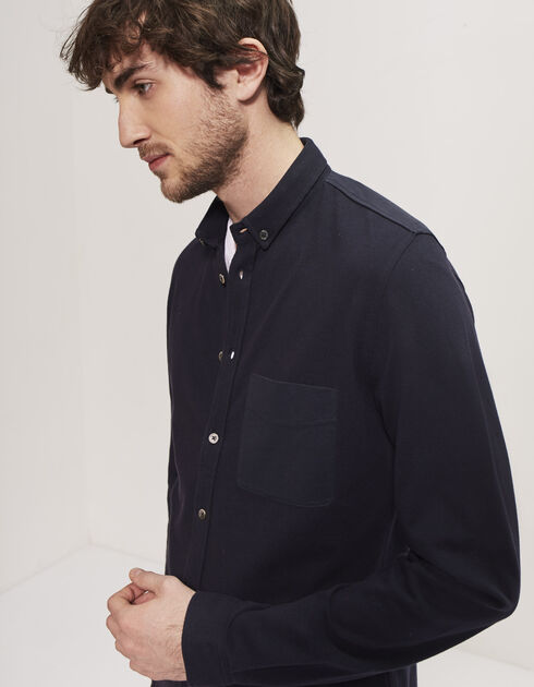 Men's blue shirt