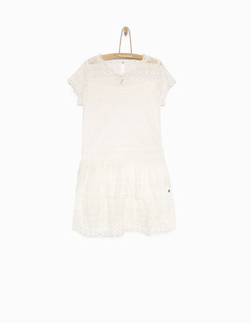 Girl's white lace dress
