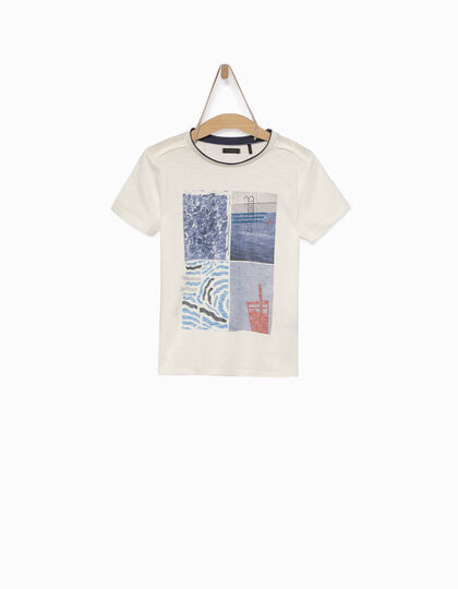 Boys' off-white T-shirt - IKKS Junior