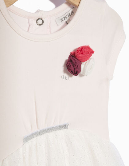 Baby girls' pink dress - IKKS Junior