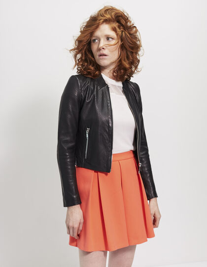 Women's lambskin jacket - IKKS Women