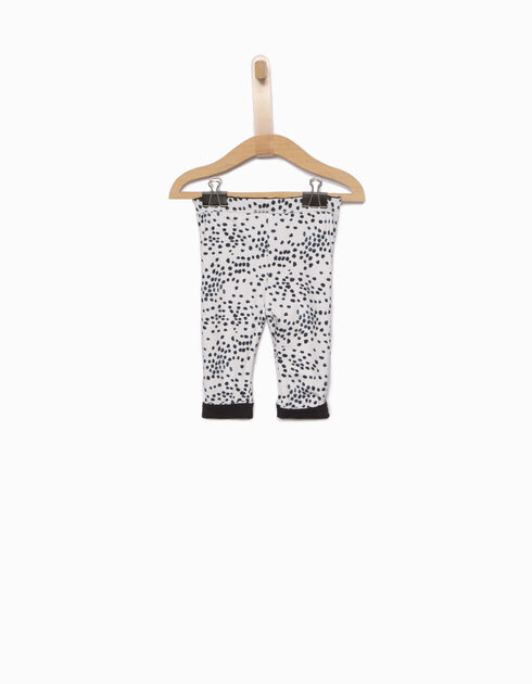 Girls' reversible leggings