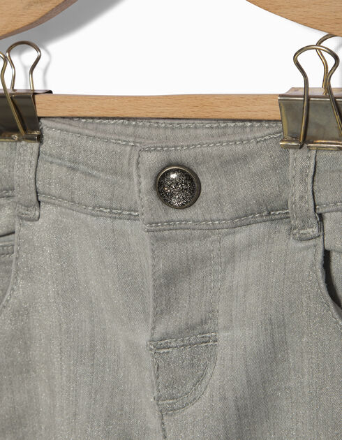 Baby girls' grey jeans