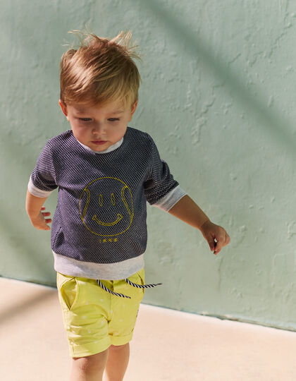 Baby boys' yellow Bermudas - IKKS Junior