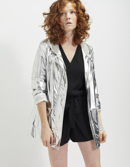 Women's metallic parka - IKKS Women