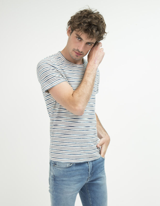 Men's striped T-shirt