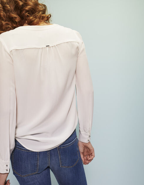 Women's ecru silk blouse