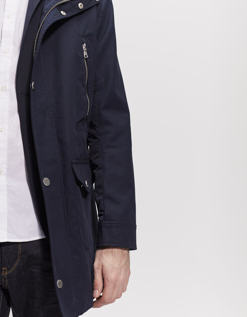 Men's blue parka