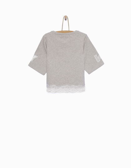 Tee-shirt fille gris - IKKS Junior
