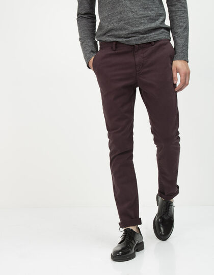 Men's plum chinos - IKKS Men