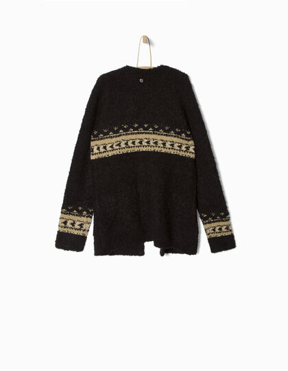 Girls' black cardigan - IKKS Junior