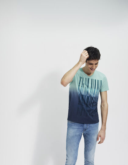 Men's green T-shirt - IKKS Men