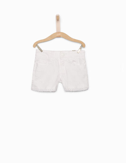 Girls' white denim shorts - IKKS Junior