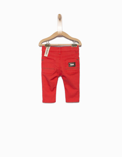 Baby boys' red jeans - IKKS Junior