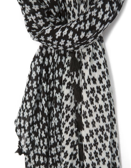 Women's black scarf - I.Code