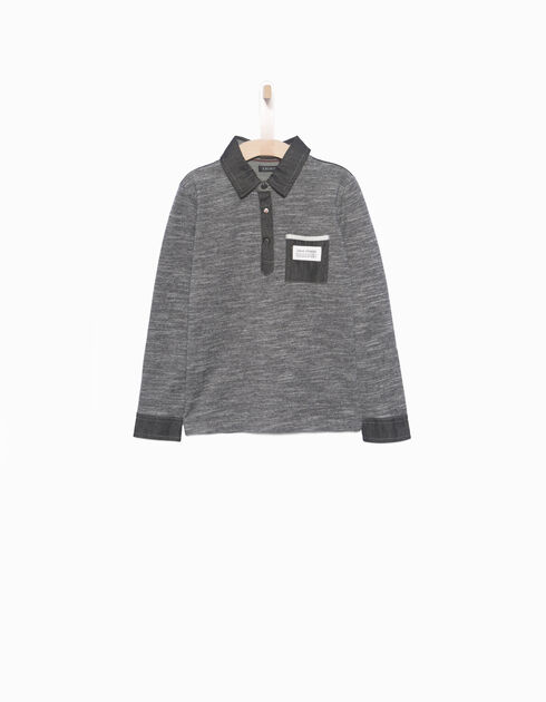 Boys' grey polo shirt