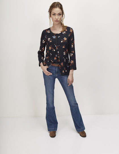 Women's flared blue jeans - I.Code