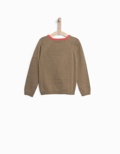 Pull taupe fille - IKKS Junior