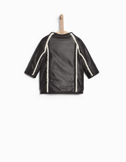 Baby girls' black coat  - IKKS Junior