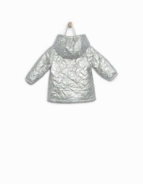 Silver padded jacket