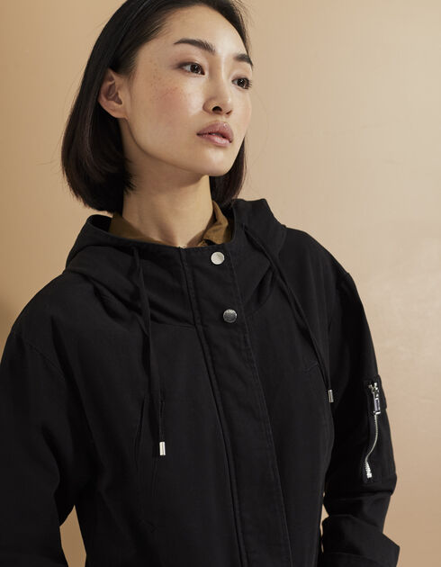 Women's black parka
