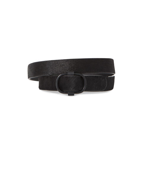 Women's black leather belt