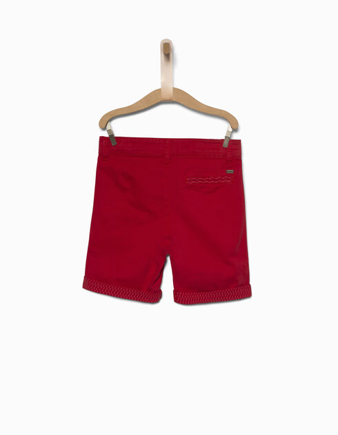 Boys' red Bermuda shorts
