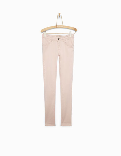 Girl's pink slim trousers