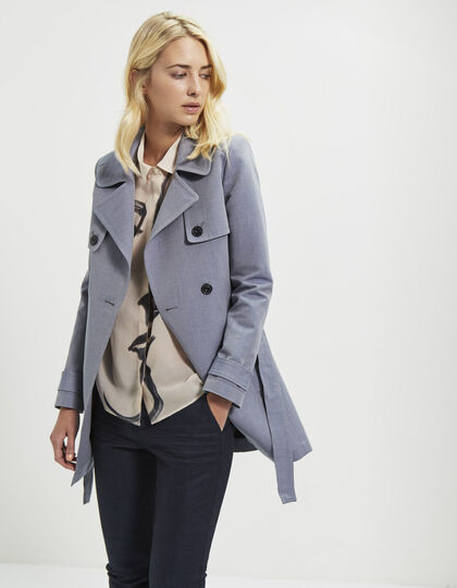 Women's short trench coat - IKKS Women