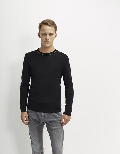 Men's black sweater - IKKS Men