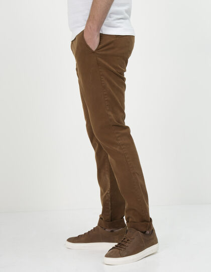 Pantalon chino camel homme - IKKS Men
