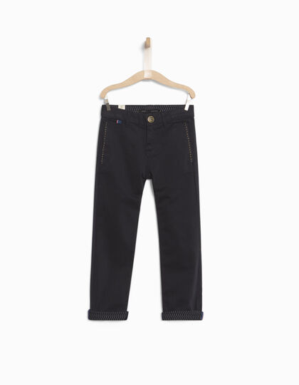 Boys' navy chinos - IKKS Junior