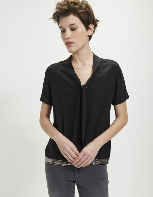 Women's silk top