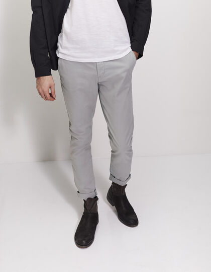 Men's grey chinos - IKKS Men